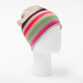 John Lewis Striped Cashmere Roll Beanie Hat, Multi