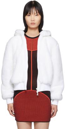 Kirin White Haetae Furry Bomber Jacket