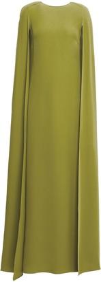 Valentino Cape-back Silk-crepe Gown