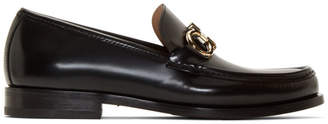 Salvatore Ferragamo Black Rolo Loafers