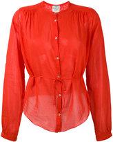 Forte Forte long sleeved sheer shirt - women - Silk/Cotton - III
