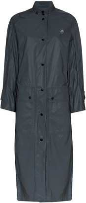 Marine Serre A-line long raincoat