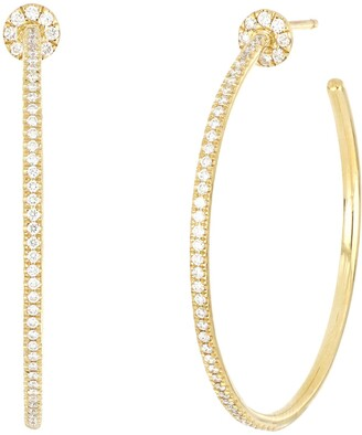 Bony Levy Bardot Diamond Hoop Earrings