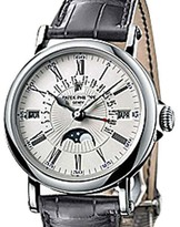 Patek Philippe Perpetual Calendar Retrograde 5159 18K White Gold Strap Mens Watch