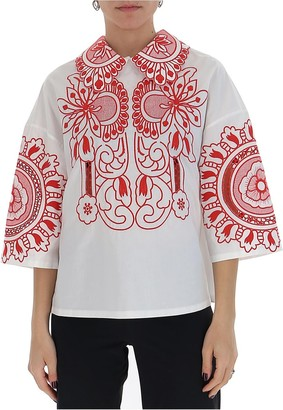 RED Valentino Floral Embroidery Blouse