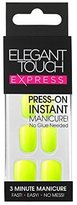 Elegant Touch Express False Nails - Polished Neon Yellow (24 Nails) [One Size, Neon Yellow, LL_0515] by
