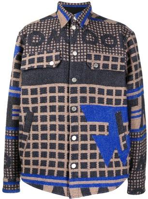 Tom Wood Night River jacquard shirt jacket