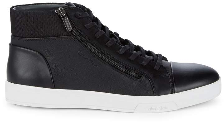 Calvin Klein Lace-Up High-Top Sneakers
