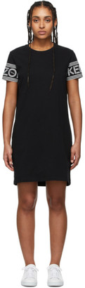 Kenzo Black Sport Tshirt Dress