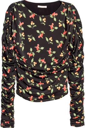 H&M Draped jersey top