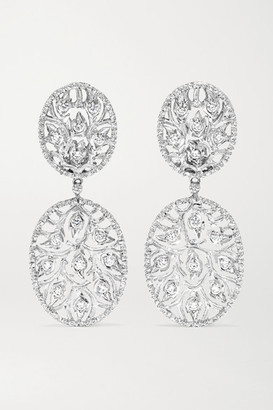 Buccellati 18-karat White Gold Diamond Earrings - one size