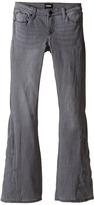 Hudson Kids Five-Pocket Patchwork Flare Jeans in Iron Horse Grey (Big Kids)