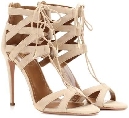 Aquazzura Beverly Hills 105 suede sandals