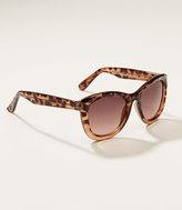 LOFT Ombre Tortoiseshell Print Cateye Sunglasses