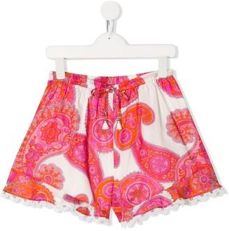 Zimmermann Kids Paisley Print Shorts