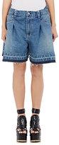 Sacai Women's Pleated Denim Oversized Shorts