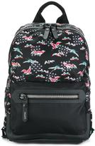 Lanvin Evolutive Cranes print backpack - men - Polyamide/Acrylic/Calf Leather/Polyester - One Size