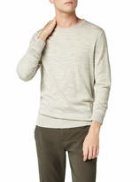Medium Grey Melange Medium Grey Melange Selected Homme Mens Slhtower New Merino V-Neck B Noos Jumper Grey