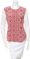 Veronica Beard Printed Sleeveless Top