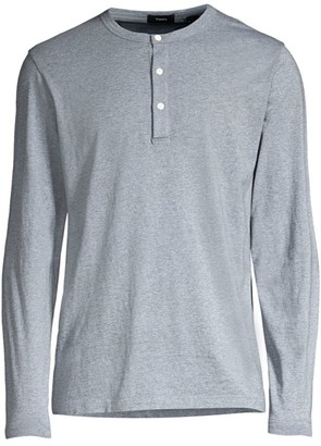 Theory Clean Silk-Cotton Henley