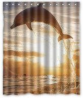 """Welcome!Waterproof Decorative Cute Dolphin Shower Curtain 60""""x72""""-5"""