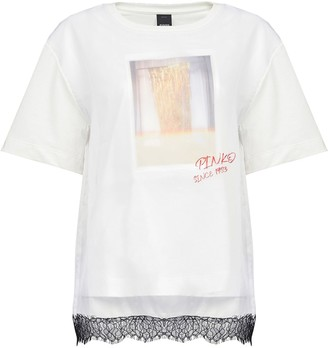 Pinko Lace Trim Cotton T-shirt