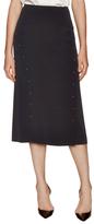 Derek Lam 10 Crosby Saddle Stud Embellished Midi Skirt