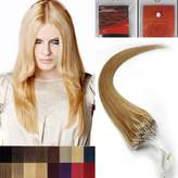 Hope 20'' Straight Loops Micro Ring Beads Tipped Human Hair Extenions 100S 27 Dark Blonde Women Beauty Hairsalon Style Design 0.5g/s