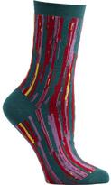 Ozone Women's Stripe Overlap Crew Socks (2 Pairs)