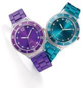Avon Metallic Bracelet Watch in Purple & Teal