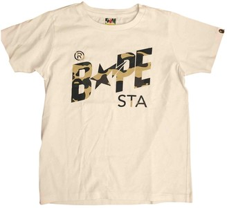 A Bathing Ape White Cotton Tops