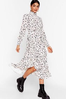 Nasty Gal Womens Let's Get Wild Animal Midi Dress - Cream