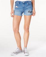 Bravado Lady Gaga Joanne Tour Juniors' Juniors' Embroidered Denim Shorts