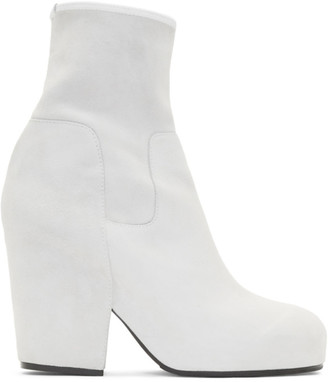 Random Identities White Suede BO3 Boots
