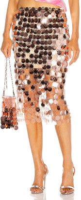 Paco Rabanne Metallic Gradient Skirt in Transparent Pink   FWRD