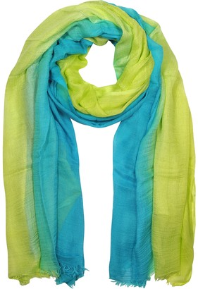 Mila Schon Turquoise and Lime Modal Stole