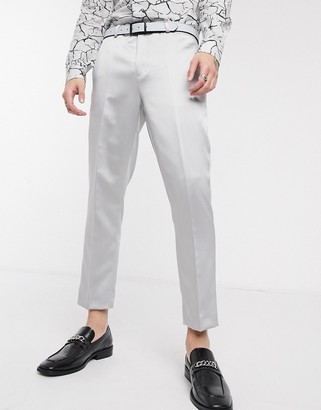 Twisted Tailor suit pants in silver