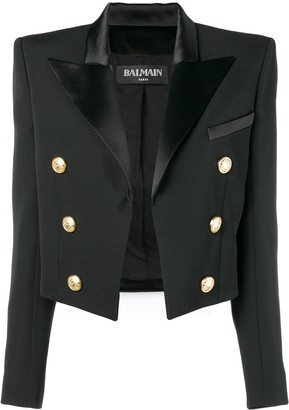 Balmain Cropped Double Breasted Jacket
