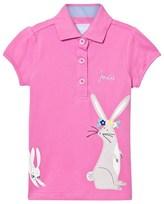 Joules Pink Rabbit Applique Polo Shirt
