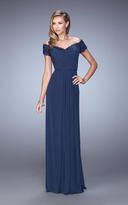La Femme 21613 Jeweled Lace Off Shoulder Gown