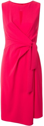 Paule Ka draped bow midi dress