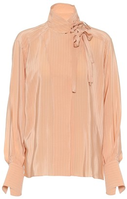 Chloé Tie-neck silk blouse