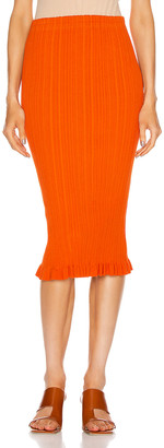 Acne Studios Rib Skirt in Poppy Red | FWRD