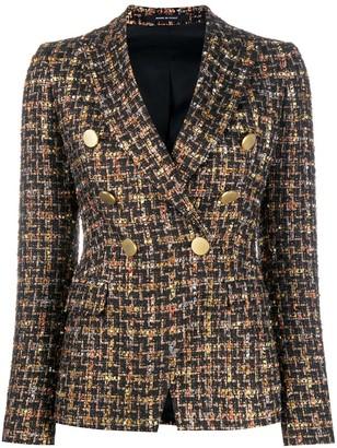 Tagliatore Tweed Double-Breasted Blazer