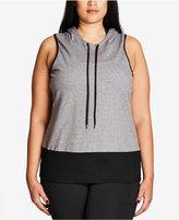 City Chic Trendy Plus Size Crisscross-Back Hoodie