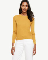 Ann Taylor Stitched Silk Cotton Sweater