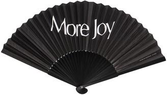More Joy Logo-Print Fan