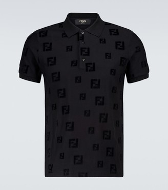 Fendi FF chenille short-sleeved polo shirt