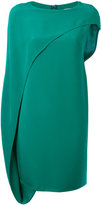 Gianluca Capannolo asymmetric draped dress - women - Silk - 42