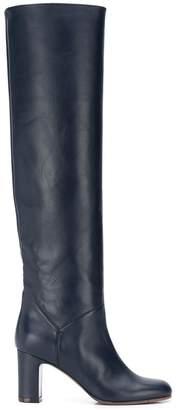 L'Autre Chose thigh-high block heel boots